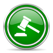 Law icon — Stock Photo