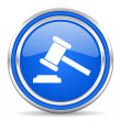Law icon — Stockfoto #30875345