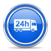 Dostawa 24h ikona — Zdjęcie stockowe