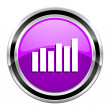 Bar graph icon — Stock Photo