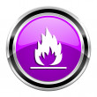 Stock Photo: Flames icon