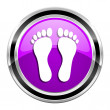 Footprint icon — Stock fotografie