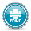 Stock Photo: Print icon