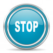 Stock Photo: Stop icon