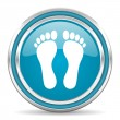 Footprint icon — Stock Photo