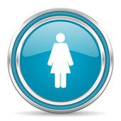 女性のアイコン — ストック写真