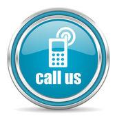 Call us icon — Stock Photo