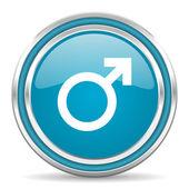 Icono de género masculino — Foto de Stock