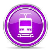 火车图标 — 图库照片