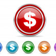 Dollar icon — Stock Photo #31648955