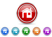 Haus-Symbol — Stockfoto