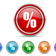 Percent icon — Stock Photo #31650145
