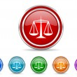 Justice icon — Stock Photo #31650567
