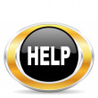Help icon, — Stock Photo