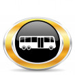 Stock Photo: Bus icon,