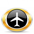 Plane icon, — Stock Photo