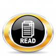 Foto de Stock  : Read icon,