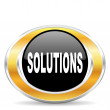 Foto Stock: Solutions icon,