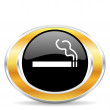 Smoking icon — 图库照片