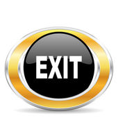Exit icon, — Stock Photo