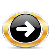 Right icon, — Stock Photo