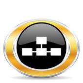 Database icon, — Stock Photo