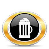 Beer icon, — Stock Photo
