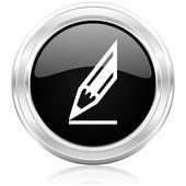 Icono de lápiz — Foto de Stock