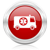 Ambulance icon — Stock Photo
