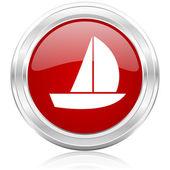 Yacht icon — Stock Photo