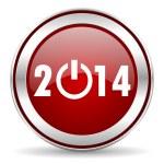 Year 2014 icon — Stock Photo #33708187