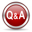Stock Photo: Question answer icon