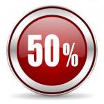 50 percent icon — Stock Photo #33708433