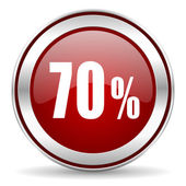70 percent icon — Stock Photo