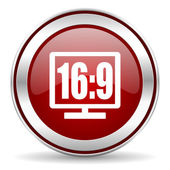 16 9 display icon — Stock Photo