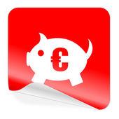 Piggy bank icon — Stock Photo