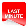 Last minute icon — Stock fotografie #33915401