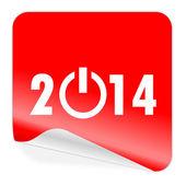 Year 2014 icon — Stock Photo