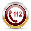 Stock Photo: Emergency call icon