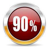90%的图标 — 图库照片