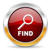 Find icon — Stock Photo