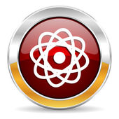 Atom icon — Stock Photo