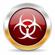 Biohazard icon — Stock Photo #34423645
