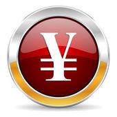 Icono yen — Foto de Stock