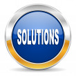 Solutions icon — Foto de stock #34562525