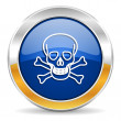 Skull icon — Stock Photo