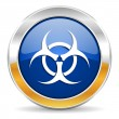 Biohazard icon — Stock Photo #34563799