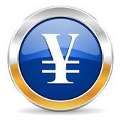 ícone de ienes — Foto Stock