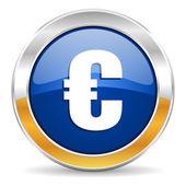 Icono de euro — Foto de Stock