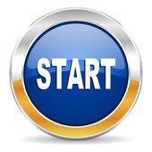 Start icon — Stock Photo